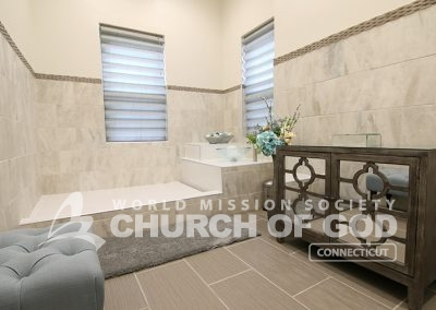 World Mission Society Church of God, WMSCOG, Connecticut, CT, Baptism Room, interior