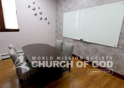 World Mission Society Church of God, WMSCOG, Connecticut, CT, Bible study room, interior